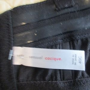 Cacique Intimates & Sleepwear - Cacique satin padded strapless black bra 40C